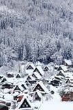 历史的村庄白川町去 库存图片