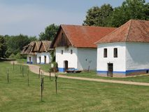 历史的村庄建筑 免版税库存照片