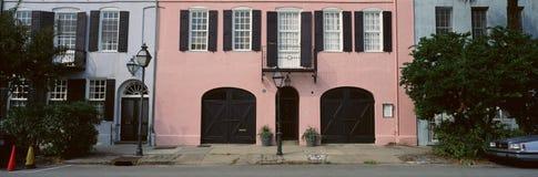 历史的桃红色家在查尔斯顿, SC 库存图片