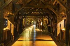 历史的桥梁的内部建筑学在坏Saeckingen的 免版税库存照片