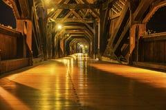 历史的桥梁的内部建筑学在坏Saeckingen的 免版税库存图片