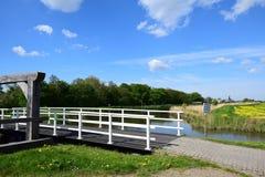历史的水闸在Bleiswijk,荷兰 库存图片