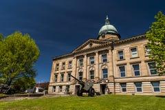 历史的法院大楼- Ironton,俄亥俄 免版税库存照片