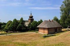 历史的波兰村庄,一点波兰,波兰 库存照片