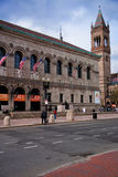 历史的波士顿公立图书馆外视图, 图库摄影