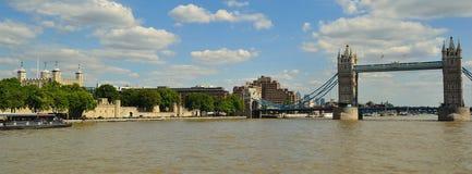 历史的泰晤士河 免版税库存照片