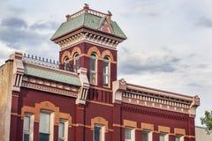 历史的消防站在柯林斯堡 库存图片