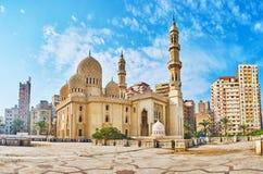 历史的清真寺在亚历山大,埃及 库存照片
