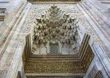 历史的清真寺装饰14世纪 免版税库存图片