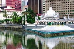 历史的清真寺Masjid Jamek在吉隆坡 免版税库存图片