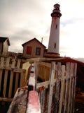 历史的灯塔在北加利福尼亚 库存照片
