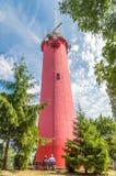 历史的灯塔在Krynica Morska,波兰 免版税图库摄影