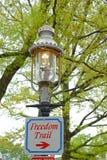历史的煤气灯在Charlestown,波士顿,麻省,美国 库存照片