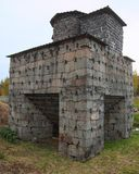 历史的瑞典鼓风炉从19世纪 库存图片