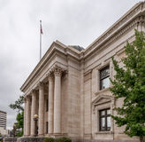 历史的瓦肖县法院大楼在里诺,内华达 免版税图库摄影