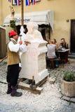 历史的石雕刻家 库存照片