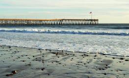 历史的码头,维特纳,加利福尼亚 库存照片