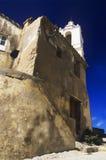 历史的城堡,壁角看法, Calvi,可西嘉岛 库存照片