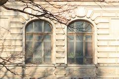 历史的窗口的几何构成 库存照片