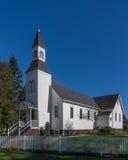 历史的米尔纳教堂在Langley不列颠哥伦比亚省 库存照片