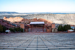 历史的红色在丹佛,科罗拉多附近晃动圆形剧场 免版税库存照片