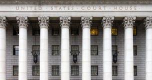 历史的美国法院在纽约 库存图片