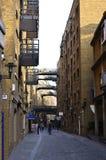 历史的美洲河鲱泰晤士在Bermondsey,伦敦 免版税库存图片