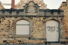 历史的老石灰石男孩学校, Fremantle,西澳州 免版税图库摄影