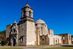 历史的老西部西班牙使命圣何塞,在1720年建立, 图库摄影