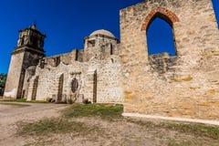 历史的老西部西班牙使命圣何塞,在1720年建立, 免版税库存照片