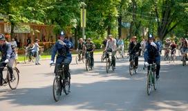 历史的自行车乘驾 免版税图库摄影
