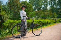 历史的自行车乘驾 库存图片