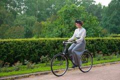 历史的自行车乘驾 库存照片