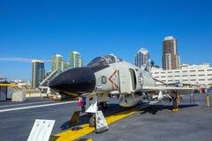 历史的航空母舰,中途的USS 免版税图库摄影