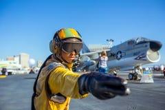 历史的航空母舰,中途的USS 图库摄影