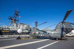 历史的航空母舰,中途的USS 库存照片