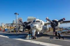 历史的航空母舰,中途的USS 免版税库存图片