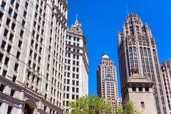 历史的芝加哥摩天大楼 免版税库存图片