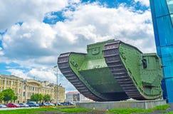 历史的英国坦克 免版税库存照片