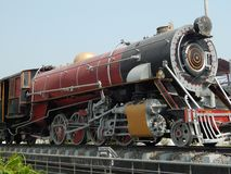 历史的英国活动蒸汽引擎 免版税库存图片