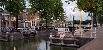 历史的荷兰小船锁 免版税库存照片