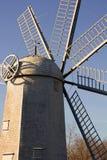 历史的荷兰风车背面图 库存照片