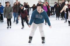 历史的萨默塞特议院的每年圣诞节滑冰场 免版税库存照片