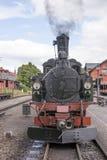 历史的蒸汽供给动力的铁路火车 图库摄影