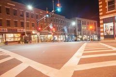 历史的街市区, Brattleboro 免版税库存图片