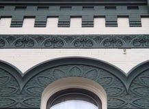 历史的街市大厦弧和细节 库存照片