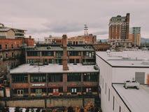 历史的街市阿什维尔 免版税库存照片