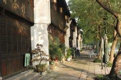 历史的街道和传统建筑除Yuehe老街道(嘉兴,浙江)以外 免版税库存照片