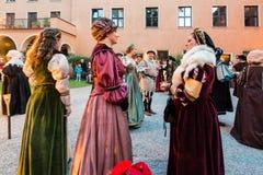 历史的表现在奥格斯堡 免版税库存照片
