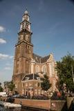 历史的西部教会是17世纪教会在阿姆斯特丹,荷兰 库存图片